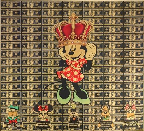 Queen of Fortune by Diederik Van Apple - Mixed Media on Aluminium